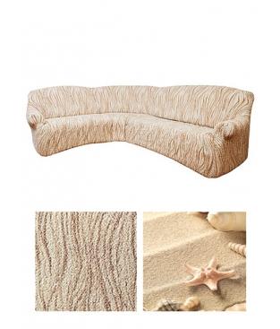 Чехол на угловой диван, дизайн Arricciato Universo