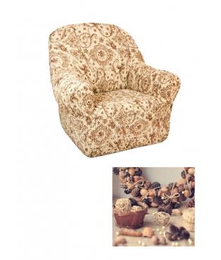 Чехол из  коллекционной ткани Bielastico на кресло | Arricciato Flora
