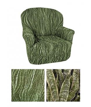 Чехол из  коллекционной ткани Bielastico на кресло   Arricciato Jungle