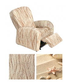 Bielastico kolekcijas auduma pārvalks atpūtas RELAX tipa krēslam | Arricciato Sandy V608