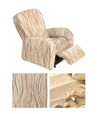 Чехол из коллекционной ткани Bielastico на RELAX кресло | Arricciato Sandy V608