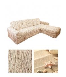 Чехол из ткани Bielastico, на угловой диван | R Arricciato VAR608