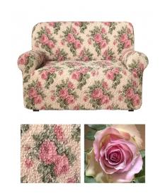 Чехол из коллекционной ткани на 2х-местный диван