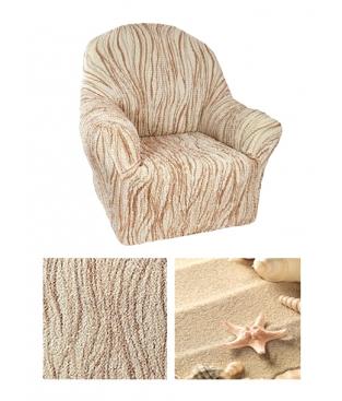 Чехол из  коллекционной ткани Bielastico на кресло | ARRICCANTO SANDY