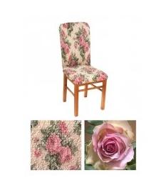 "Чехол на стул, материал Bielastico, ""Роза""."