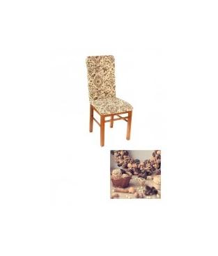 "Чехол на стул, материал Bielastico, дизайн Arriciato ""Флора""."