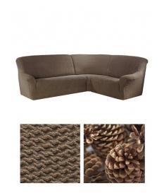 ехол на угловой диван, материал Bielastico Caffe