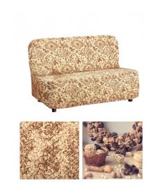 Чехол из ткани Bielastico на 3х-местный диван без подлокотников дизайн Arricciato