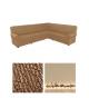 Чехол на классический угловой диван, материал Microfibra