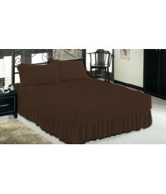 Чехол -покрывало на двуспальную кровать с оборкой.