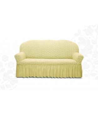 Чехол из ткани на 3х-местный диван, с юбочкой